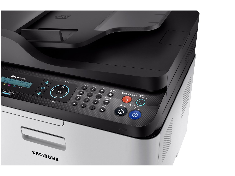 Foto 7 - Impressora Multifuncional Samsung Xpress C480 - Laser Wi-fi Colorida LCD 2 Linhas USB NFC