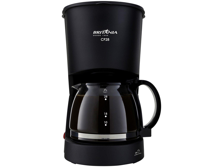 Cafeteira Elétrica Britânia CP28 até 28 Cafés - Preta - 220v - 8
