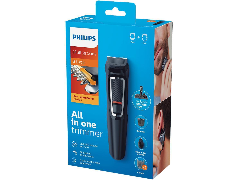 Aparador de Pelos Philips Multigroom 3000 - MG3731/15 11 Ajustes de Altura 1 Velocidade - Bivolt - 8