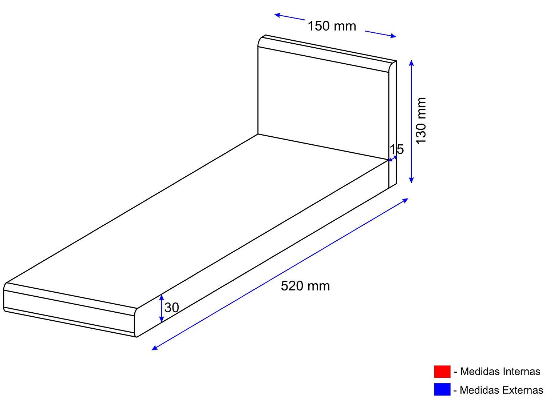Foto 2 - Tampo para Balcão 15x52cm - Multimóveis 5198