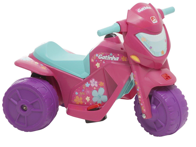 Moto Elétrica Infantil Gatinha 2 Marchas - Bandeirante - Bivolt