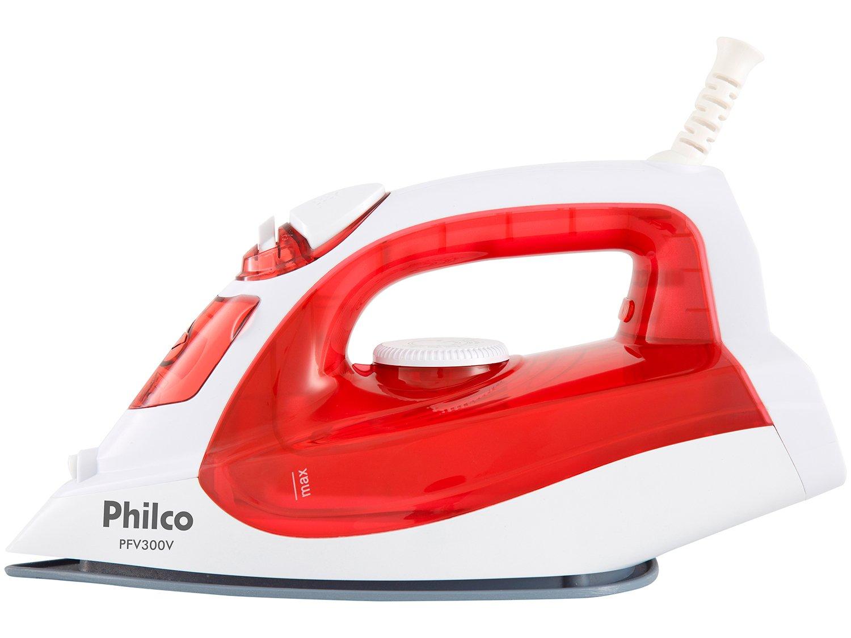 Ferro de Passar a Vapor e a Seco Philco PFV300V - Branco e Vermelho com Salva Botões - 110 V - 2
