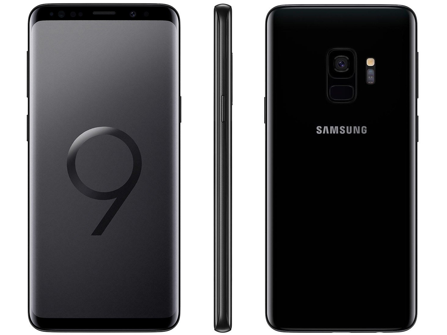 "Smartphone Samsung Galaxy S9 128GB Preto 4G - 4GB RAM Tela 5.8"" Câm. 12MP + Câm. Selfie 8MP"