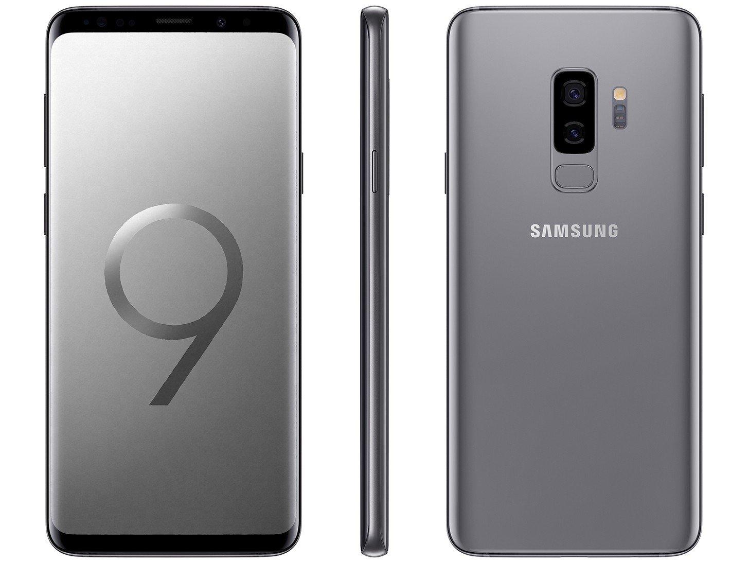 Foto 1 - Smartphone Samsung Galaxy S9+ 128GB Cinza 4G - 6GB RAM Tela 6,2 Câm. Dupla + Câm. Selfie 8MP