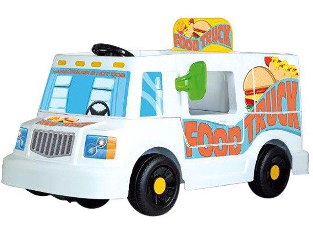 Mini Veículo Elétrico Infantil Food Truck 1 Marcha - 6V Bandeirante - Bivolt