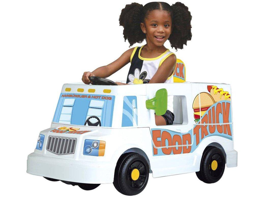 Mini Veículo Elétrico Infantil Food Truck 1 Marcha - 6V Bandeirante - Bivolt - 4