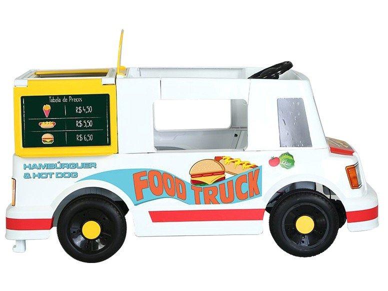Mini Veículo Elétrico Infantil Food Truck 1 Marcha - 6V Bandeirante - Bivolt - 12