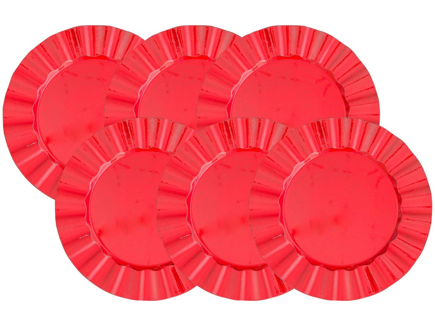 Foto 1 - Sousplat Plástico Redondo Bon Gourmet Cook 30295 - 30295 6 Peças