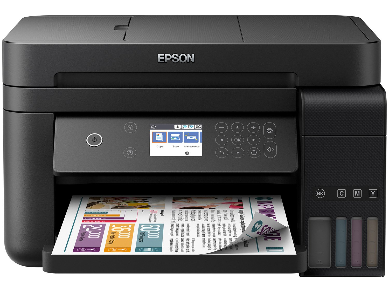 Foto 1 - Impressora Multifuncional Epson EcoTank L6171 - Tanque de Tinta Wi-Fi Colorida USB