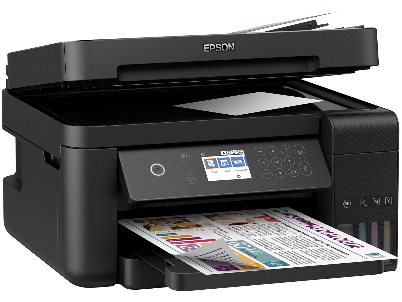 Foto 3 - Impressora Multifuncional Epson EcoTank L6171 - Tanque de Tinta Wi-Fi Colorida USB