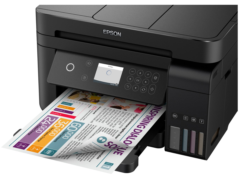 Foto 9 - Impressora Multifuncional Epson EcoTank L6171 - Tanque de Tinta Wi-Fi Colorida USB