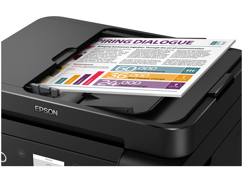 Foto 10 - Impressora Multifuncional Epson EcoTank L6171 - Tanque de Tinta Wi-Fi Colorida USB
