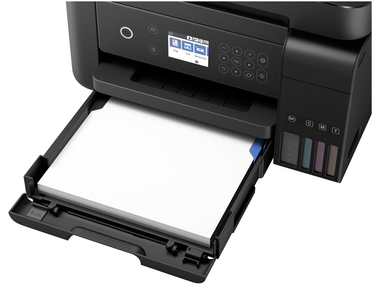 Foto 11 - Impressora Multifuncional Epson EcoTank L6171 - Tanque de Tinta Wi-Fi Colorida USB