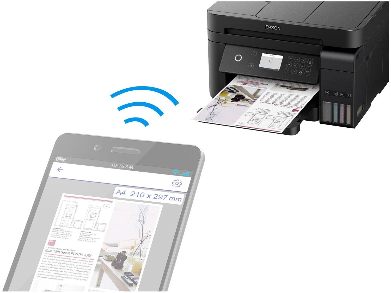 Foto 16 - Impressora Multifuncional Epson EcoTank L6171 - Tanque de Tinta Wi-Fi Colorida USB