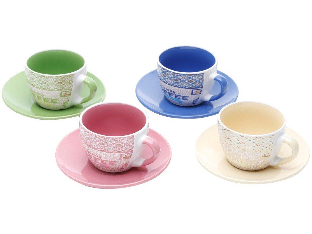 Jogo de Xícara de Chá Porcelana 4 Peças - Bon Gourmet Times