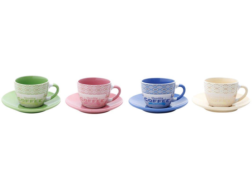 Jogo de Xícara de Chá Porcelana 4 Peças - Bon Gourmet Times - 1