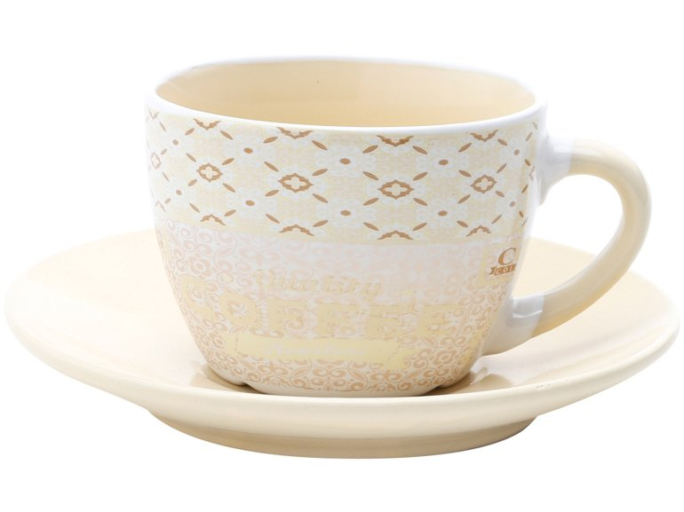 Jogo de Xícara de Chá Porcelana 4 Peças - Bon Gourmet Times - 3