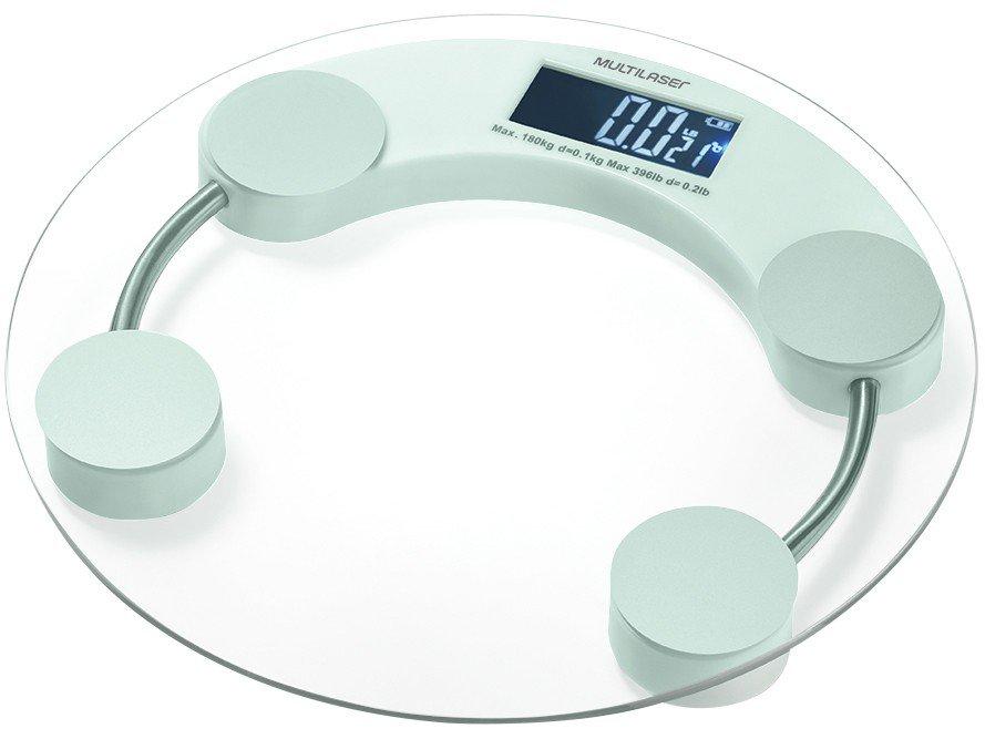 Balança Digital até 180kg Antiderrapante - Multilaser Eatsmart HC039 - Bivolt