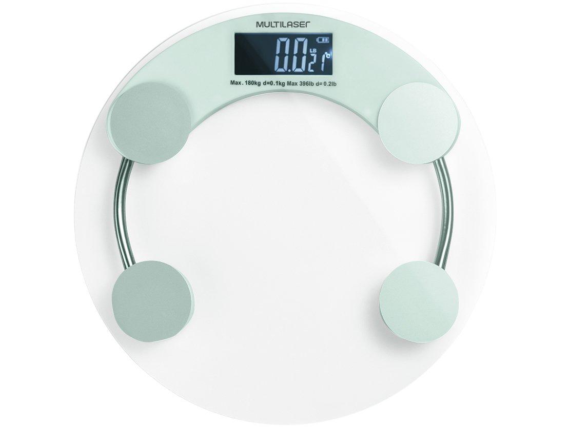 Balança Digital até 180kg Antiderrapante - Multilaser Eatsmart HC039 - Bivolt - 1