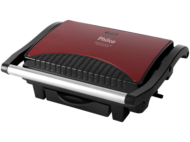Sanduicheira e Grill Philco Press Inox Red - Vermelho - 110V - 8
