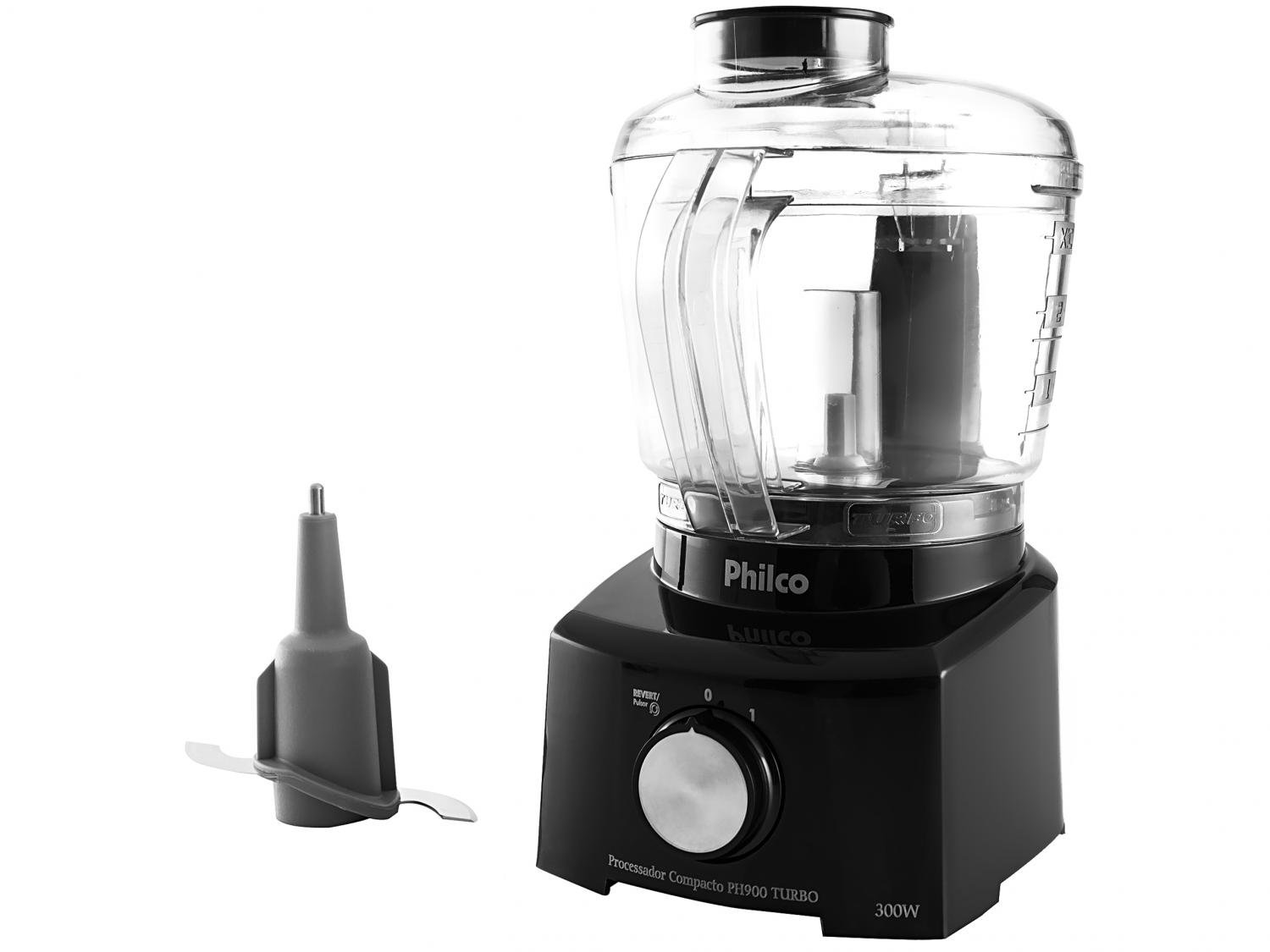 Mini Processador de Alimentos Philco PH900P Turbo 250W – Preto - 110V