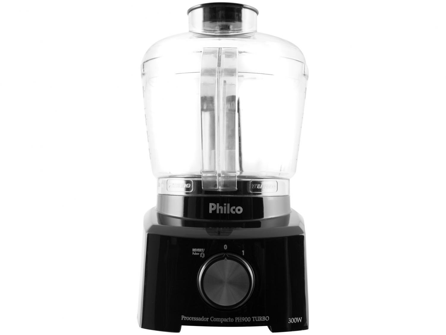 Mini Processador de Alimentos Philco PH900P Turbo 250W – Preto - 110V - 16
