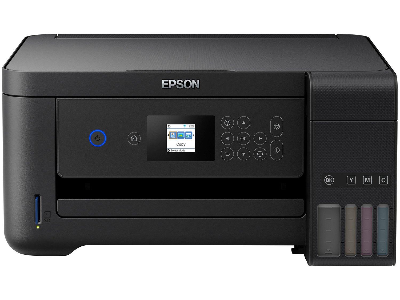 Impressora Multifuncional Epson EcoTank L4160 - Tanque de Tinta Colorido Wi-Fi USB