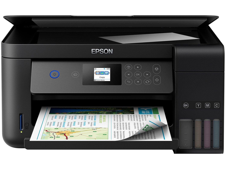 Impressora Multifuncional Epson EcoTank L4160 - Tanque de Tinta Colorido Wi-Fi USB - 4