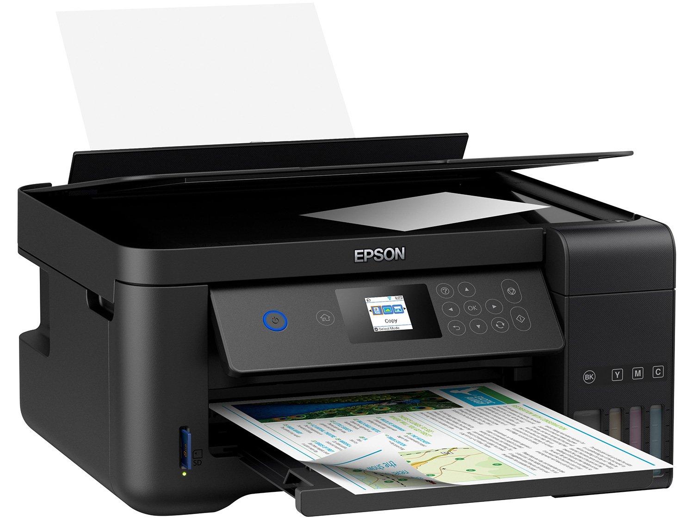 Impressora Multifuncional Epson EcoTank L4160 - Tanque de Tinta Colorido Wi-Fi USB - 8