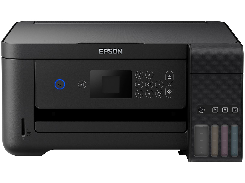 Impressora Multifuncional Epson EcoTank L4160 - Tanque de Tinta Colorido Wi-Fi USB - 12