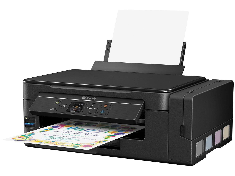 Foto 1 - Impressora Multifuncional Epson EcoTank L495 - Tanque de Tinta Colorida LCD 1,44 Wi-fi USB 2.0