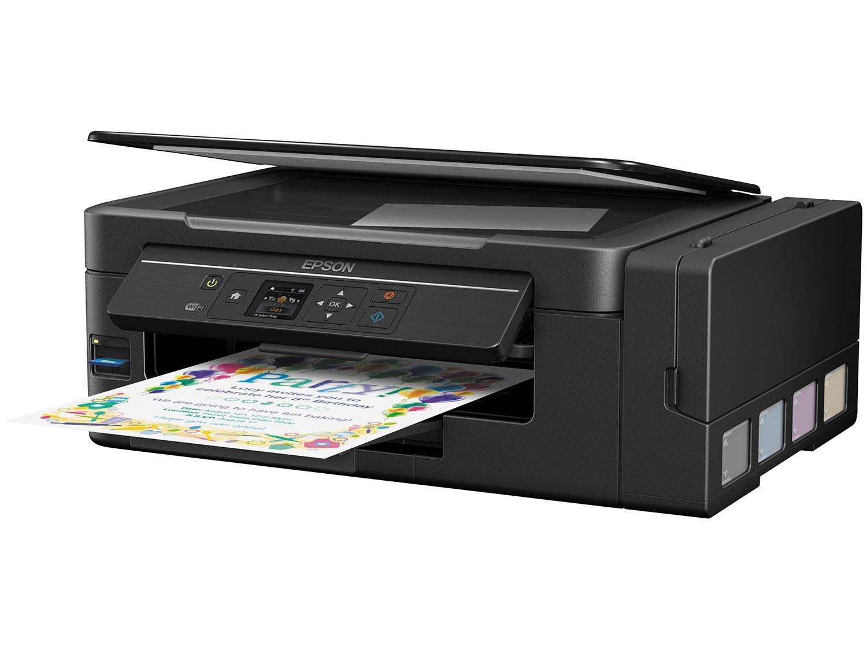 Foto 2 - Impressora Multifuncional Epson EcoTank L495 - Tanque de Tinta Colorida LCD 1,44 Wi-fi USB 2.0