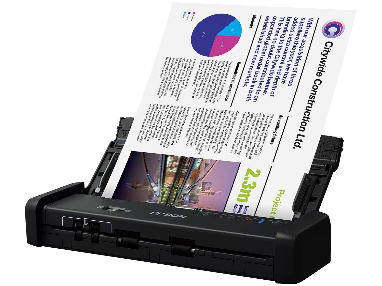 Foto 1 - Scanner Portátil Epson WorkForce ES-200 Colorido - Wireless 600dpi Alimentador Automático