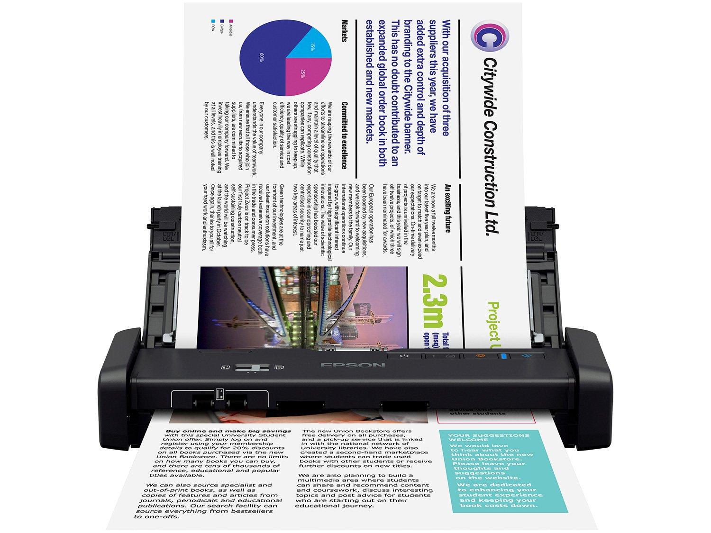 Foto 3 - Scanner Portátil Epson WorkForce ES-200 Colorido - Wireless 600dpi Alimentador Automático