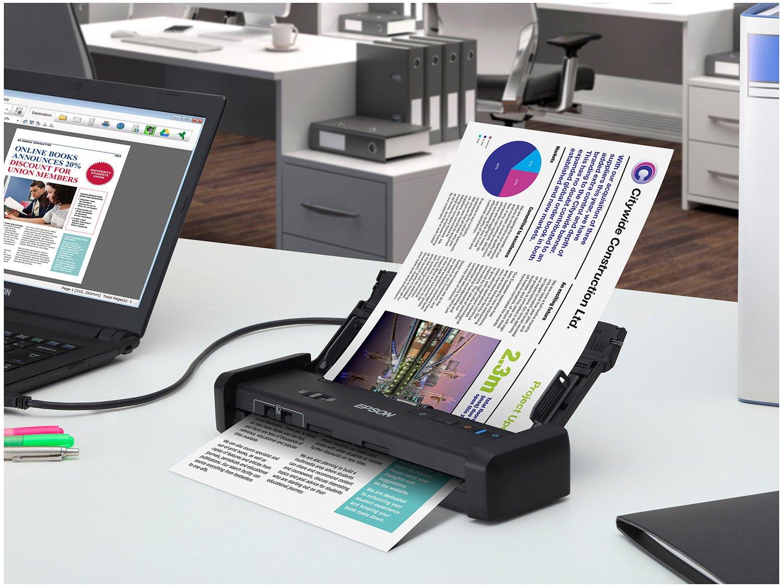 Foto 8 - Scanner Portátil Epson WorkForce ES-200 Colorido - Wireless 600dpi Alimentador Automático