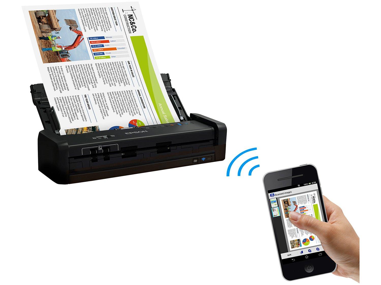 Foto 7 - Scanner Portátil Epson WorkForce ES-300W Colorido - Wireless 600dpi Alimentador Automático