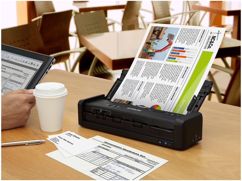 Foto 8 - Scanner Portátil Epson WorkForce ES-300W Colorido - Wireless 600dpi Alimentador Automático