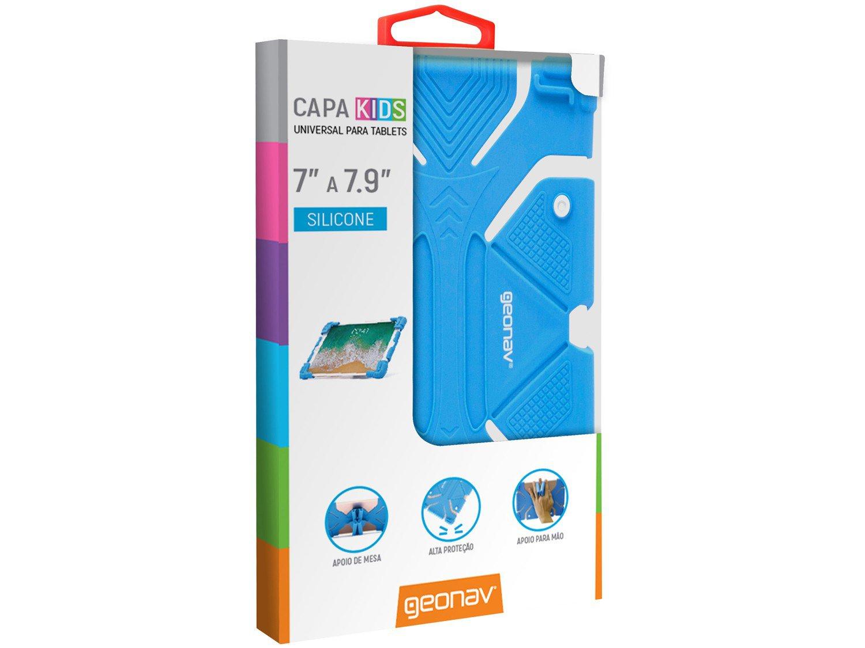 Foto 6 - Capa para Tablet Universal 7 até 7,9 Azul - Kids Geonav