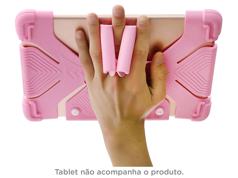 Foto 5 - Capa para Tablet Universal 9 até 12 Rosa - Kids Geonav
