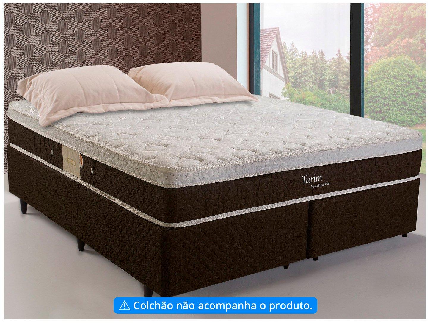 Box para Colchão Queen Size Herval Bipartido - 39cm de Altura Turim Idea 790 - 1