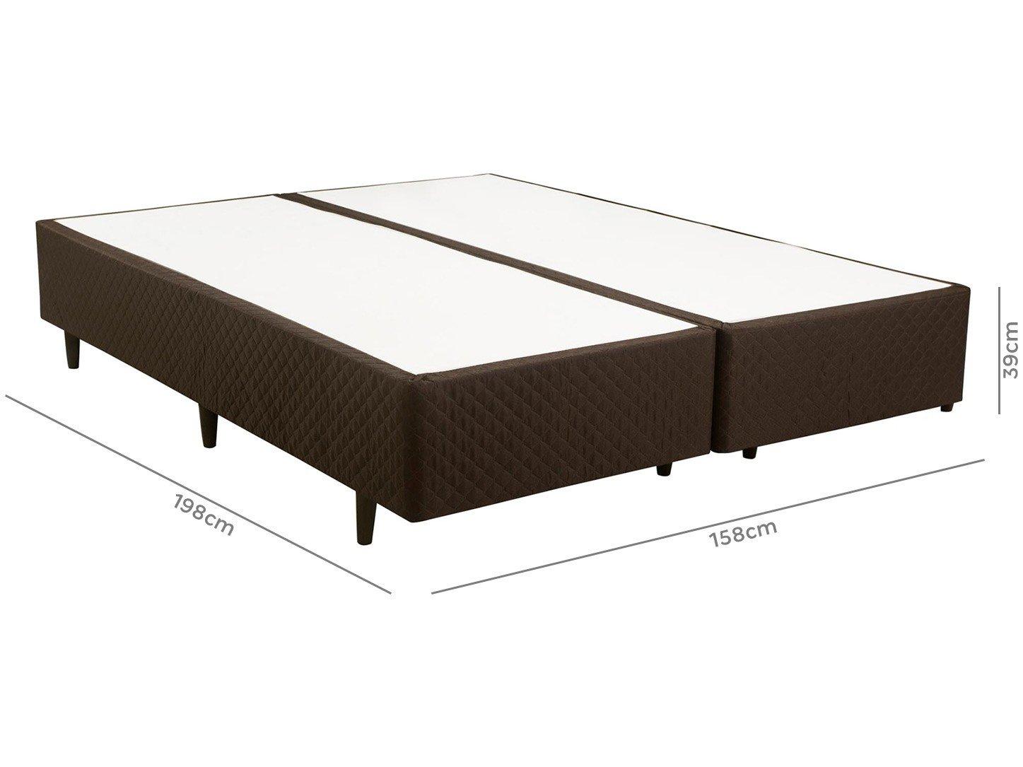 Box para Colchão Queen Size Herval Bipartido - 39cm de Altura Turim Idea 790 - 2