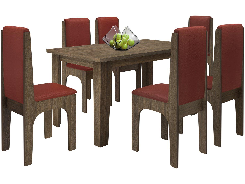 Foto 2 - Conjunto de Mesa com 6 Cadeiras Estofadas - Dobuê Movelaria Miami