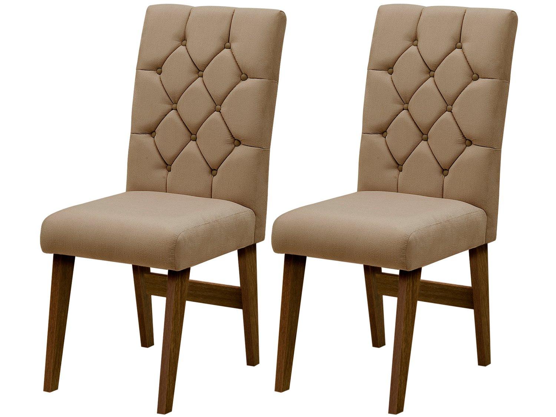 Foto 1 - Cadeira para Sala de Jantar Estofada 2 Peças - Dobuê Movelaria Istambul