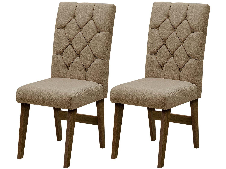 Foto 2 - Cadeira para Sala de Jantar Estofada 2 Peças - Dobuê Movelaria Istambul