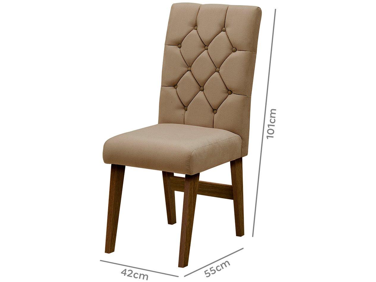 Foto 4 - Cadeira para Sala de Jantar Estofada 2 Peças - Dobuê Movelaria Istambul