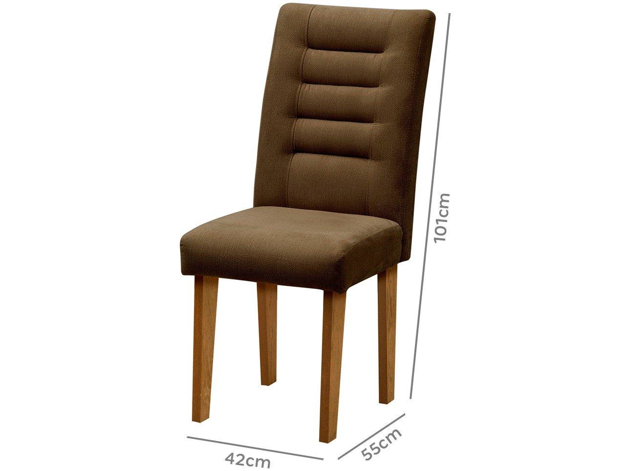 Foto 4 - Cadeira para Sala de Jantar Estofada 2 Peças - Dobuê Movelaria Vegas