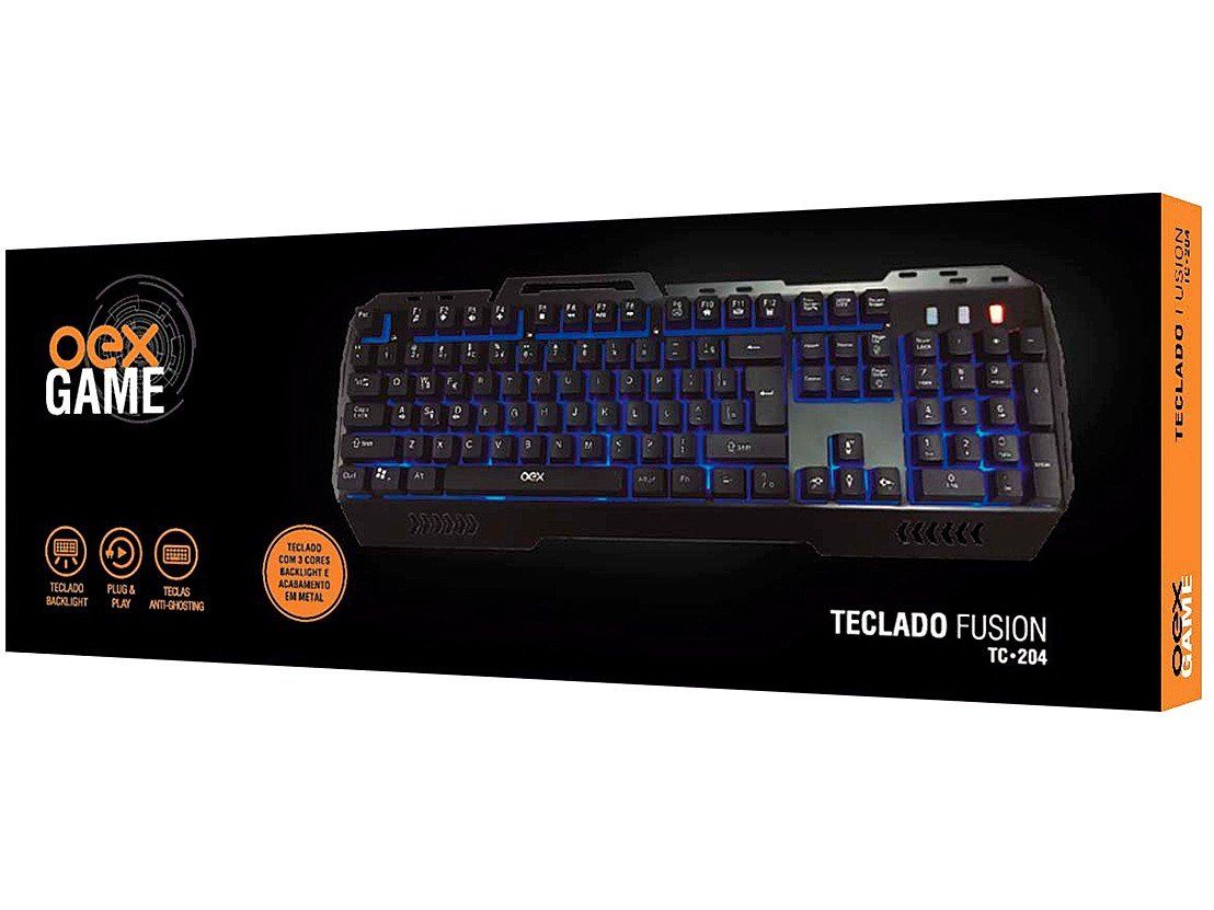 Foto 6 - Teclado Gamer Multimídia USB Fusion TC204 - OEX