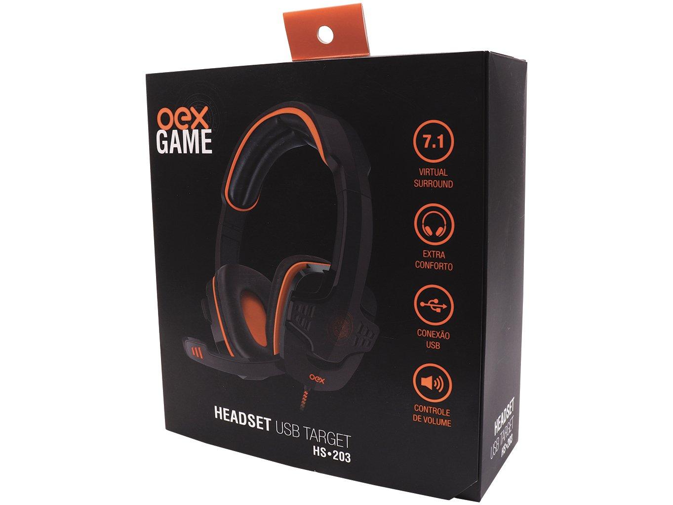 Foto 6 - Headset Gamer para PC OEX - Target HS203