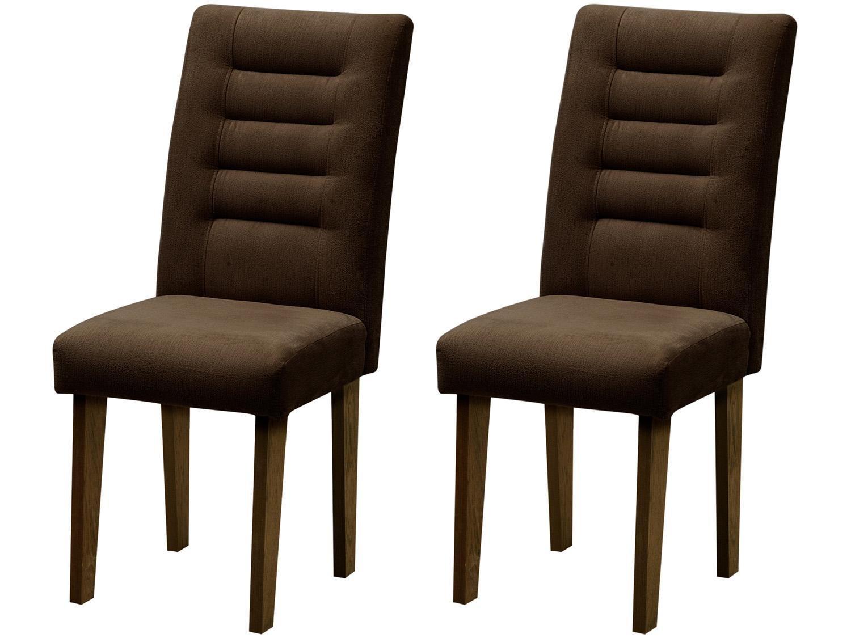 Foto 2 - Cadeira para Sala de Jantar Estofada 2 Peças - Dobuê Movelaria Vegas