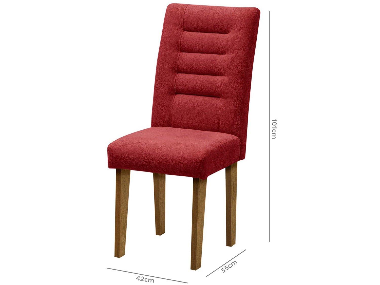 Foto 5 - Cadeira para Sala de Jantar Estofada 2 Peças - Dobuê Movelaria Vegas